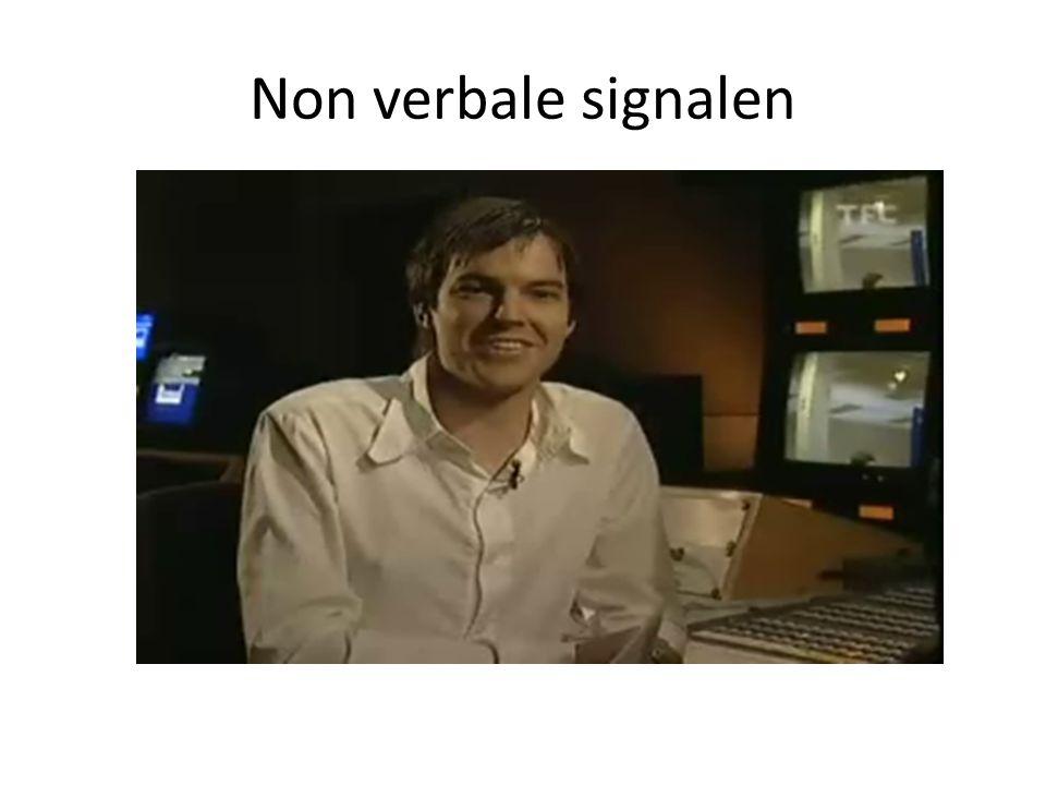 Non verbale signalen