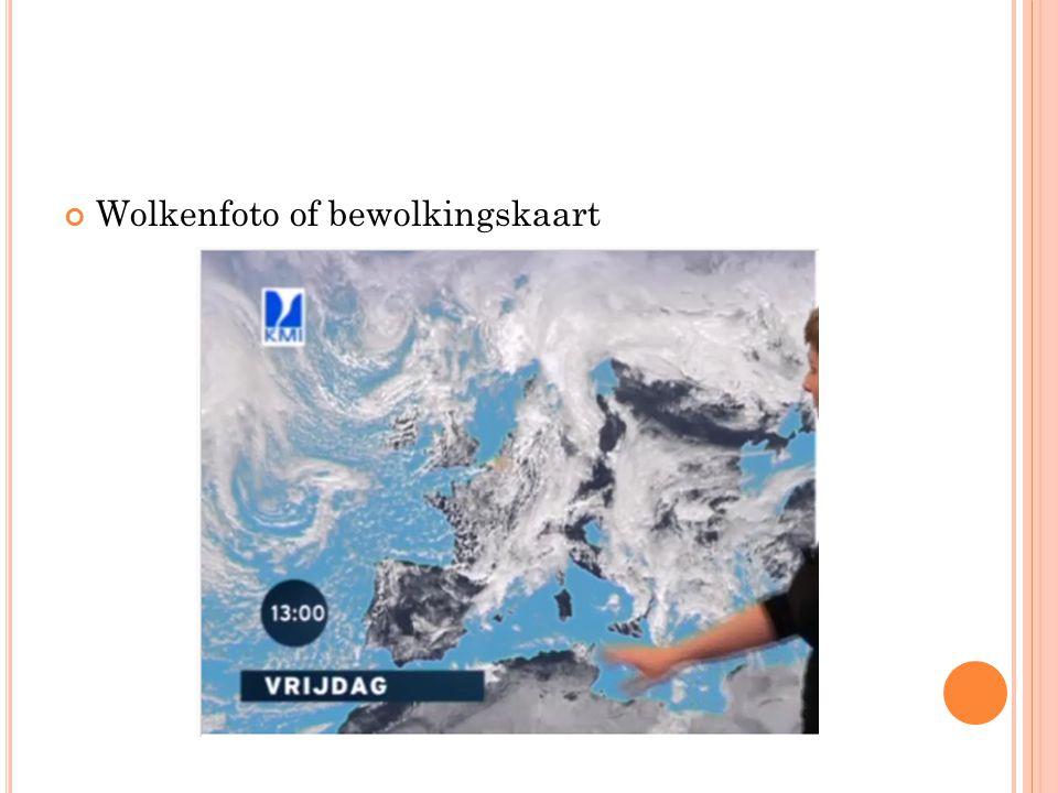 Wolkenfoto of bewolkingskaart