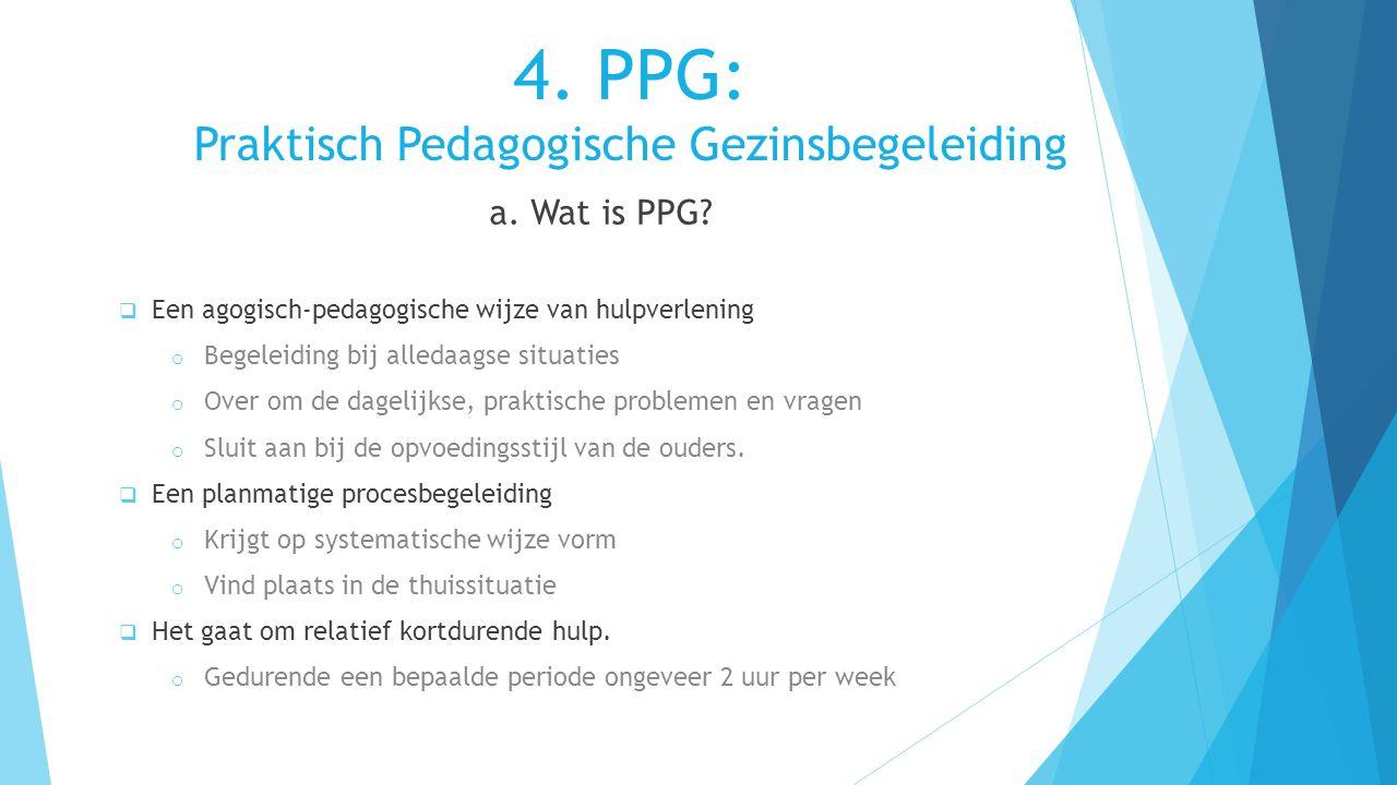3. Opvoedingsondersteuning Methodes:  Video-Home-Training  Heijkoopmethodiek  Oudergesprekken  Cursussen  PPG