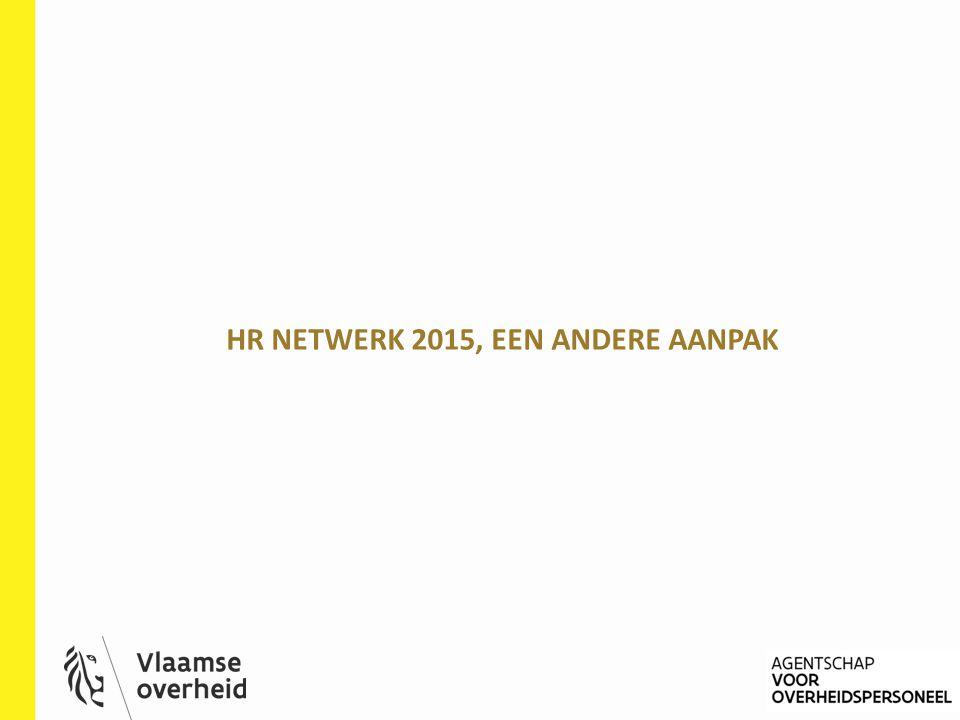 HR NETWERK 2015, EEN ANDERE AANPAK