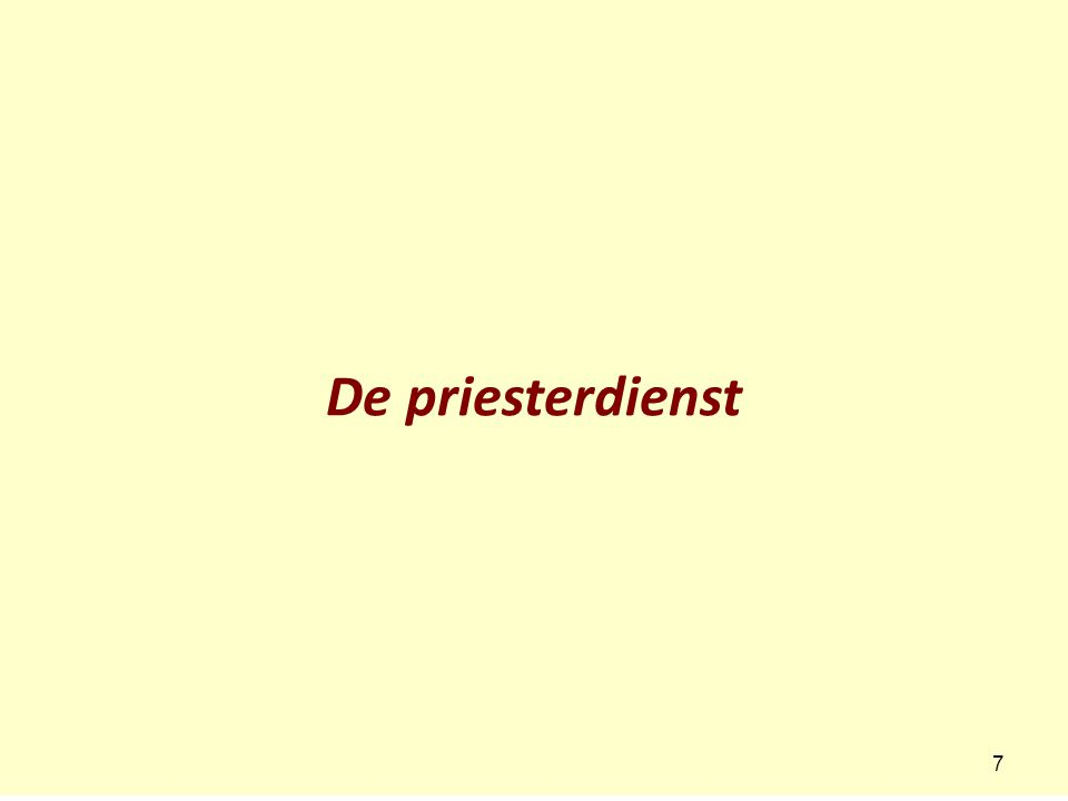 De priesterdienst 7