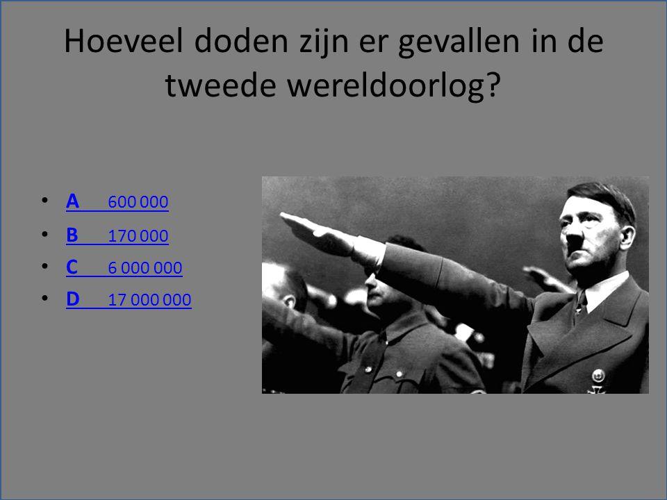 Hoeveel doden zijn er gevallen in de tweede wereldoorlog.