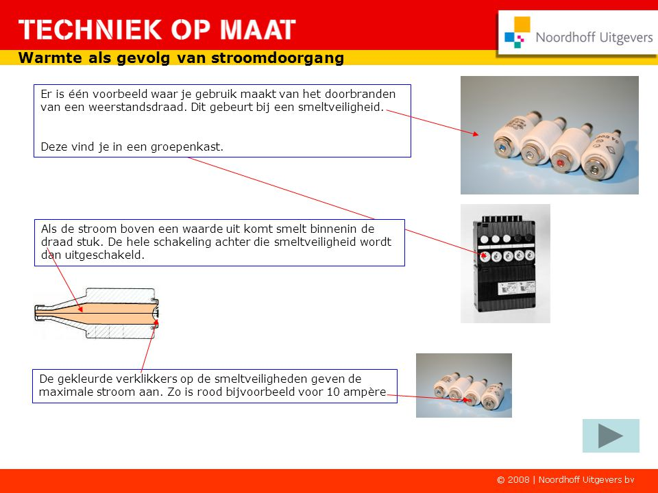 Voorbeelden van apparaten die warmte opwekken door een stroomdoorgang zijn: -Elektrische radiator -Elektrisch fornuis -Koffiezetapparaat -Haarföhn en -Elektrische frituurpan Warmte als gevolg van stroomdoorgang