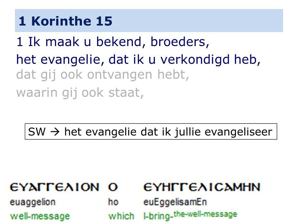 1 Korinthe 15 19 Indien wij alleen voor dit leven onze hoop op Christus gebouwd hebben, zijn wij de beklagenswaardigste van alle mensen.