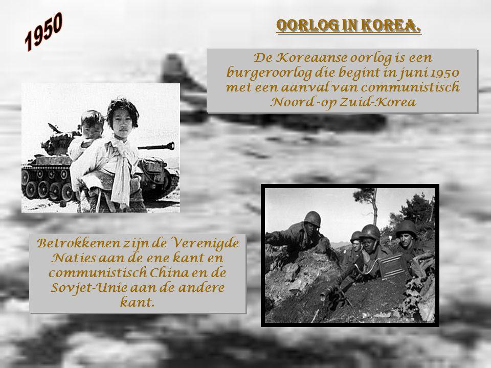 Oorlog in Korea.Oorlog in Korea.