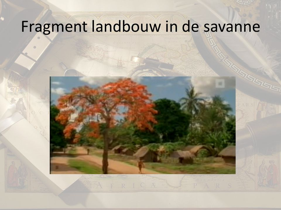 Fragment landbouw in de savanne