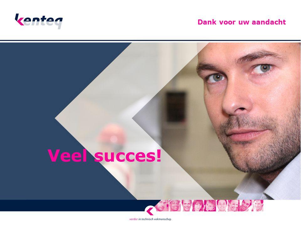 Dank voor uw aandacht Veel succes!
