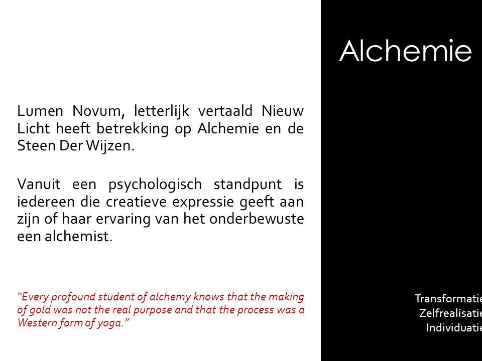 Alchemie Lumen Novum, letterlijk vertaald Nieuw Licht heeft betrekking op Alchemie en de Steen Der Wijzen.