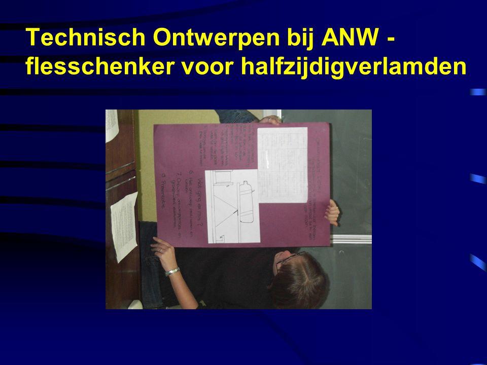 Technisch Ontwerpen bij ANW - flesschenker voor halfzijdigverlamden