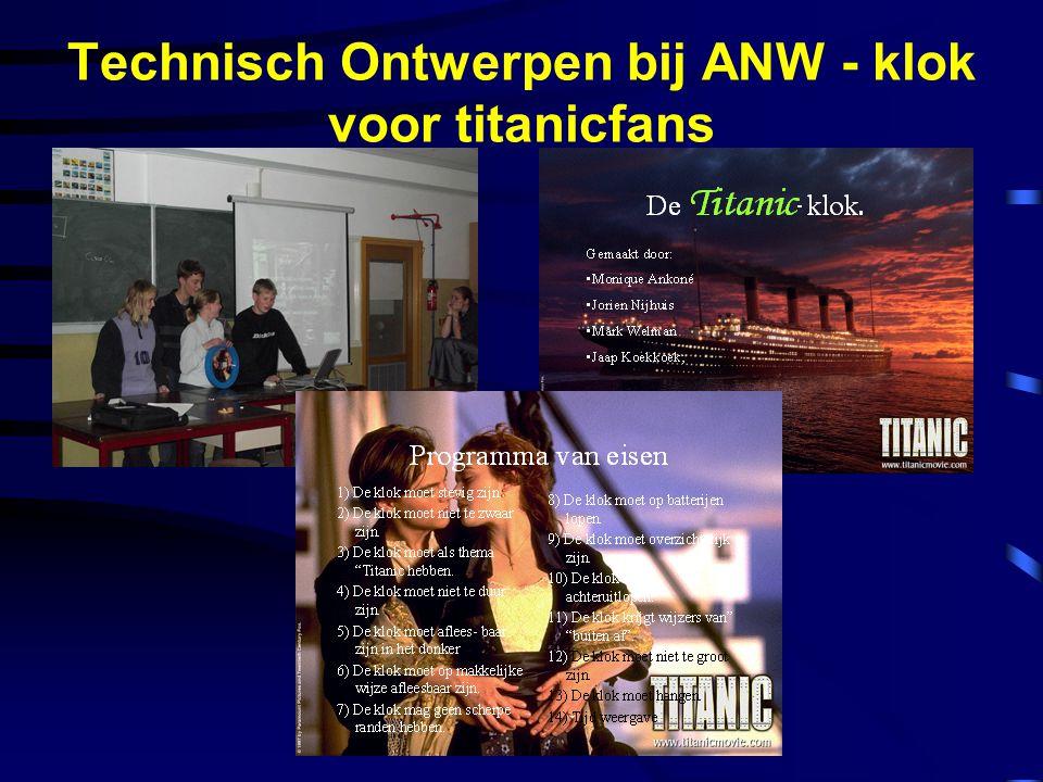 Technisch Ontwerpen bij ANW - klok voor titanicfans