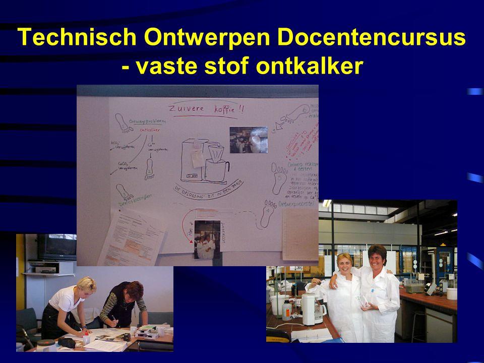 Technisch Ontwerpen Docentencursus - vaste stof ontkalker