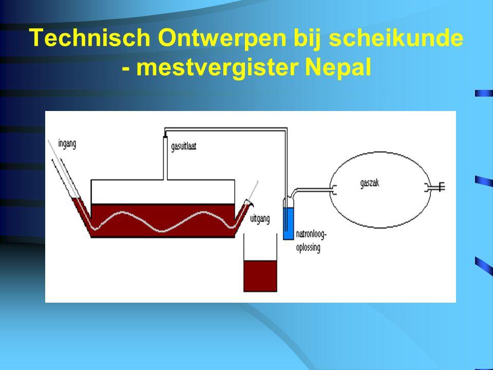 Technisch Ontwerpen bij scheikunde - mestvergister Nepal