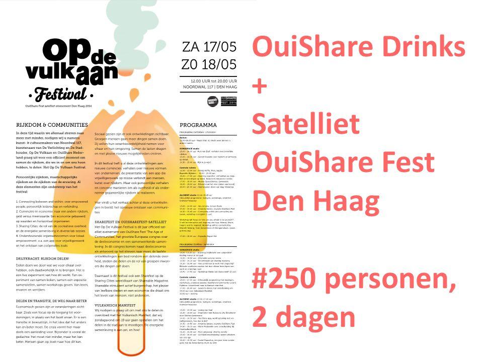 OuiShare Drinks + Satelliet OuiShare Fest Den Haag #250 personen, 2 dagen