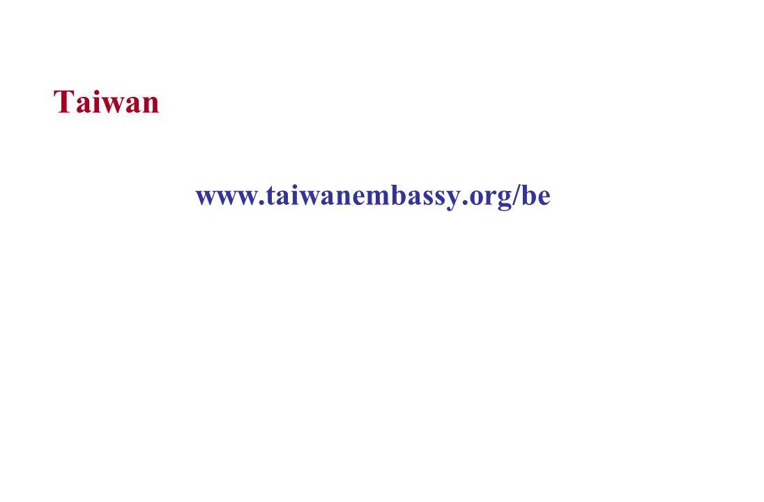 Taiwan www.taiwanembassy.org/be