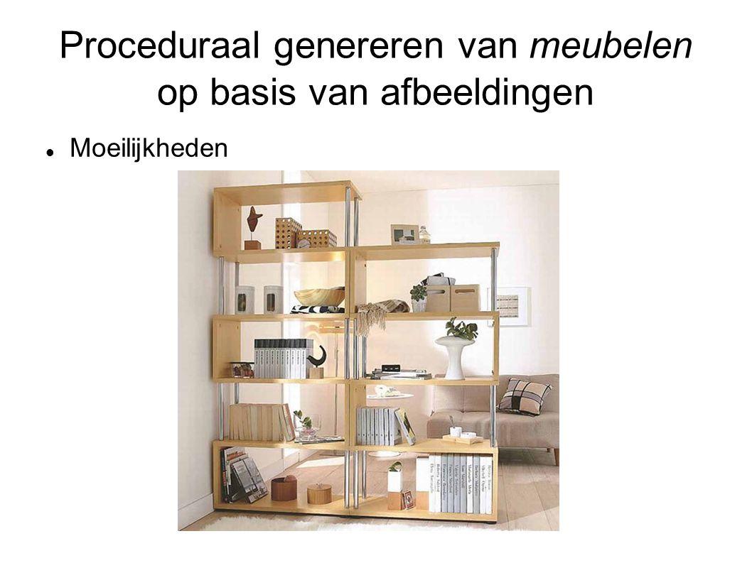 Proceduraal genereren van meubelen op basis van afbeeldingen Moeilijkheden