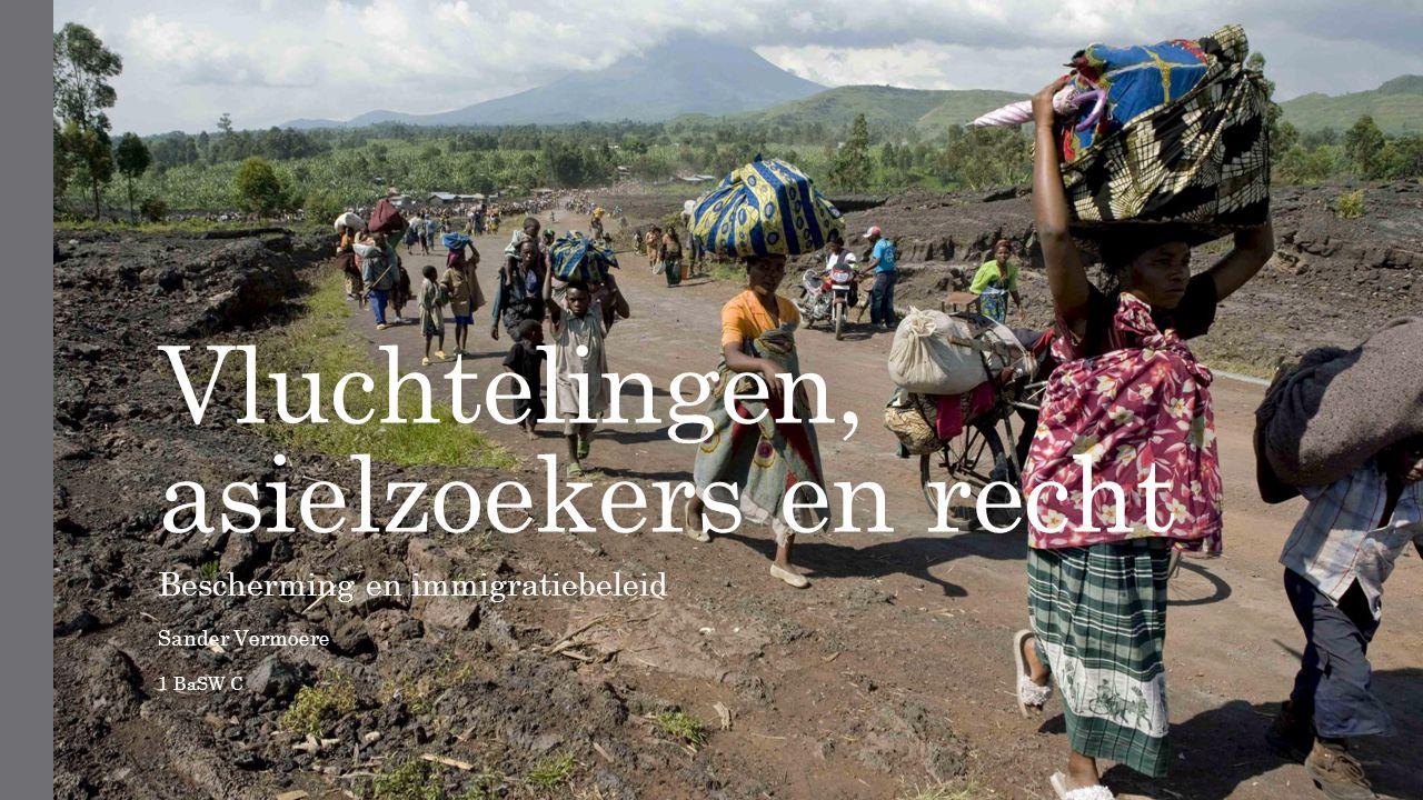 Vluchtelingen, asielzoekers en recht Bescherming en immigratiebeleid Sander Vermoere 1 BaSW C
