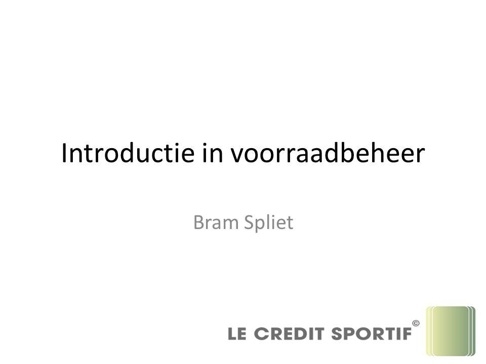 Introductie in voorraadbeheer Bram Spliet