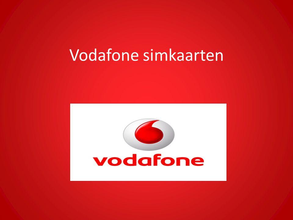Vodafone simkaarten