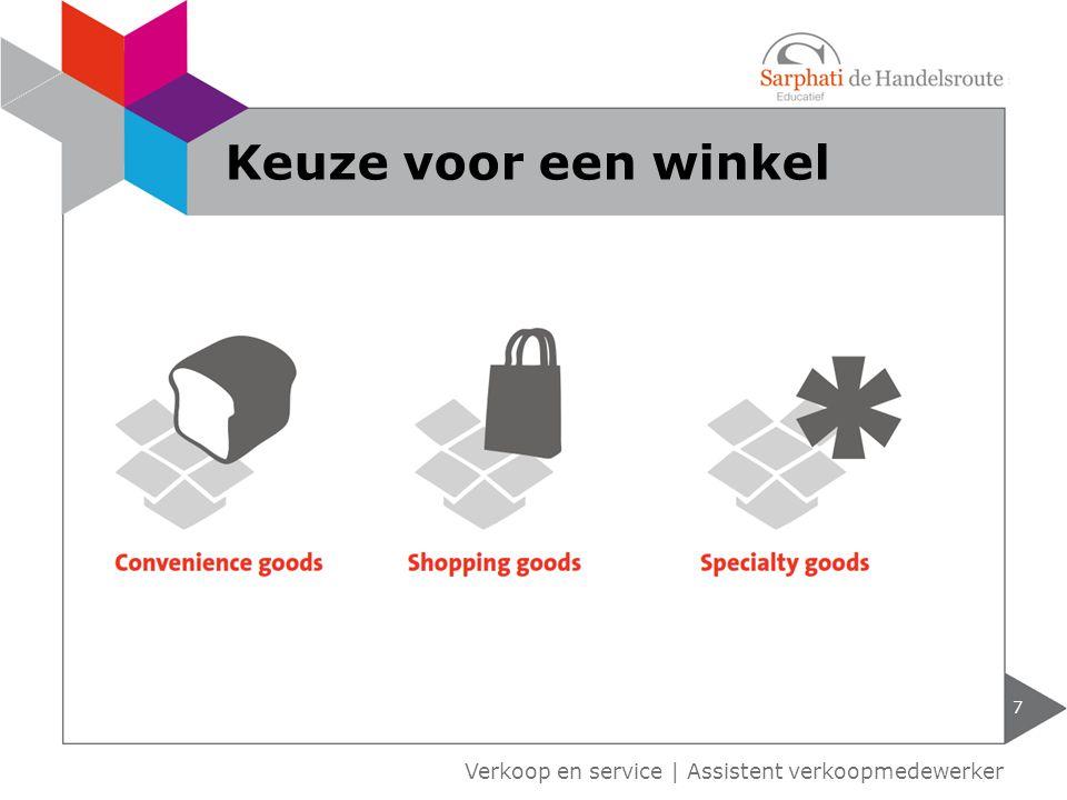 Verkoop en service | Assistent verkoopmedewerker 7 Keuze voor een winkel
