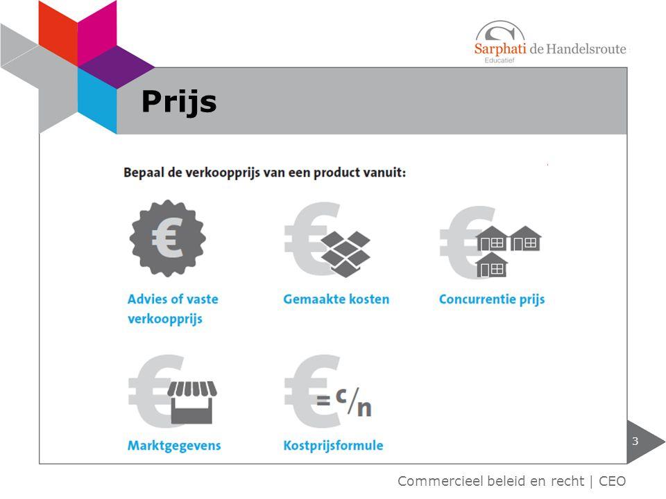 3 Commercieel beleid en recht | CEO Prijs