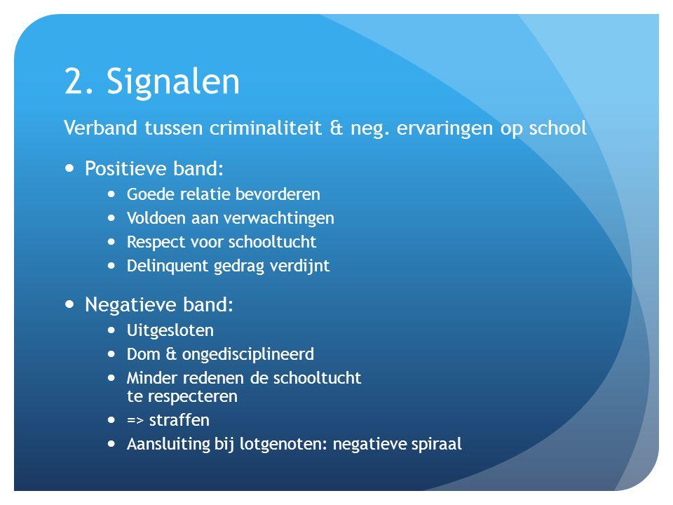 2. Signalen Verband tussen criminaliteit & neg.
