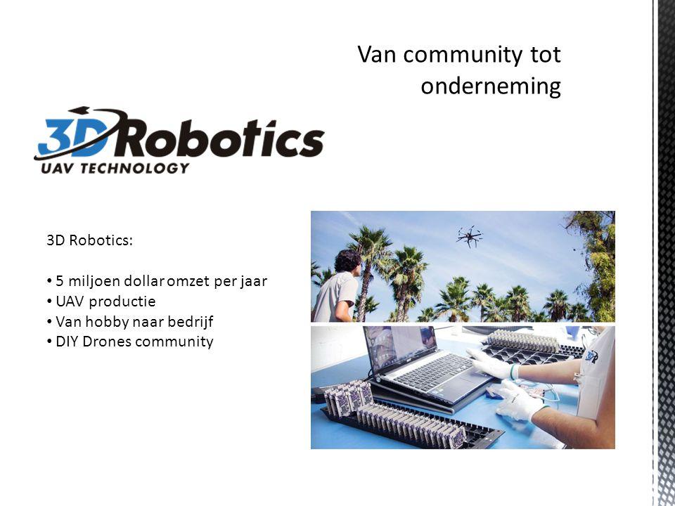 3D Robotics: 5 miljoen dollar omzet per jaar UAV productie Van hobby naar bedrijf DIY Drones community