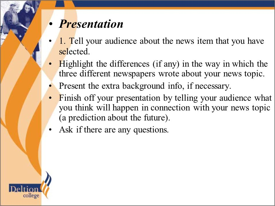 Hints and steps to be taken before giving a presentation……….