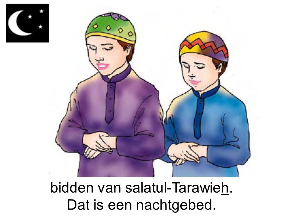 bidden van salatul-Tarawieh. Dat is een nachtgebed.