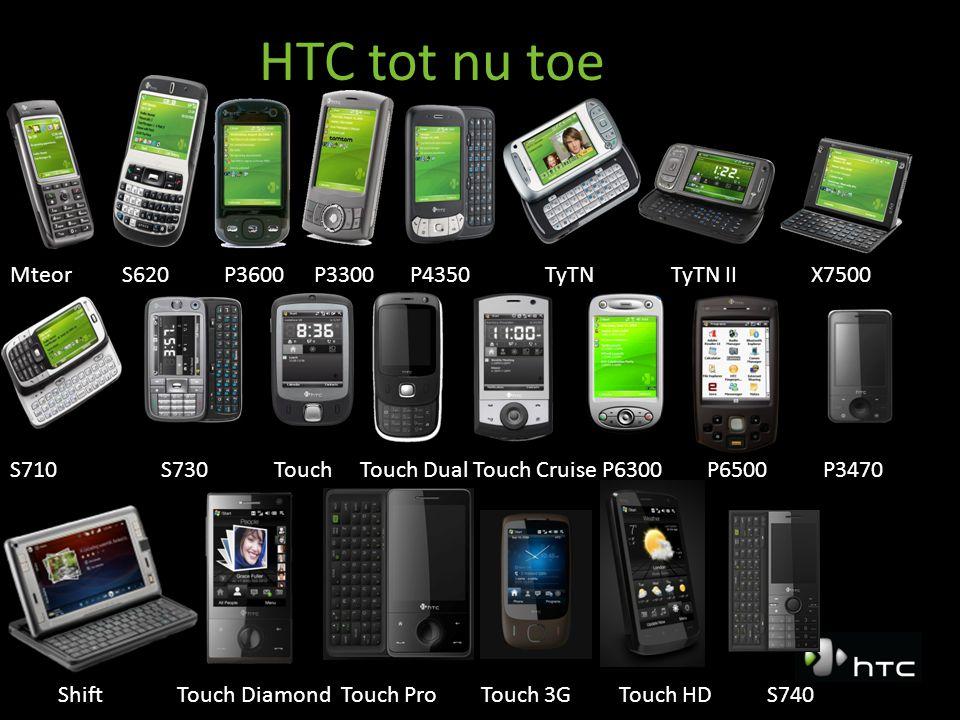 Touch Diamond 2 Afmeting: – 102 mm L X 51mm B X 11,34mm D – Scherm 2,8 VGA resolutie (640x480 pixels) Qualcomm MSM 7201a – Door HTC en Qualcomm samen ontwikkeld – Speciaal voor laag batterij verbruik bij multimedia taken – Klok snelheid: 528Mhz Interngeheugen – ROM/RAM: 192Mb / 256Mb – Uit te breiden tot 32 gig