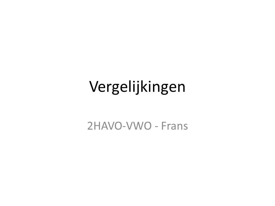 Vergelijkingen 2HAVO-VWO - Frans