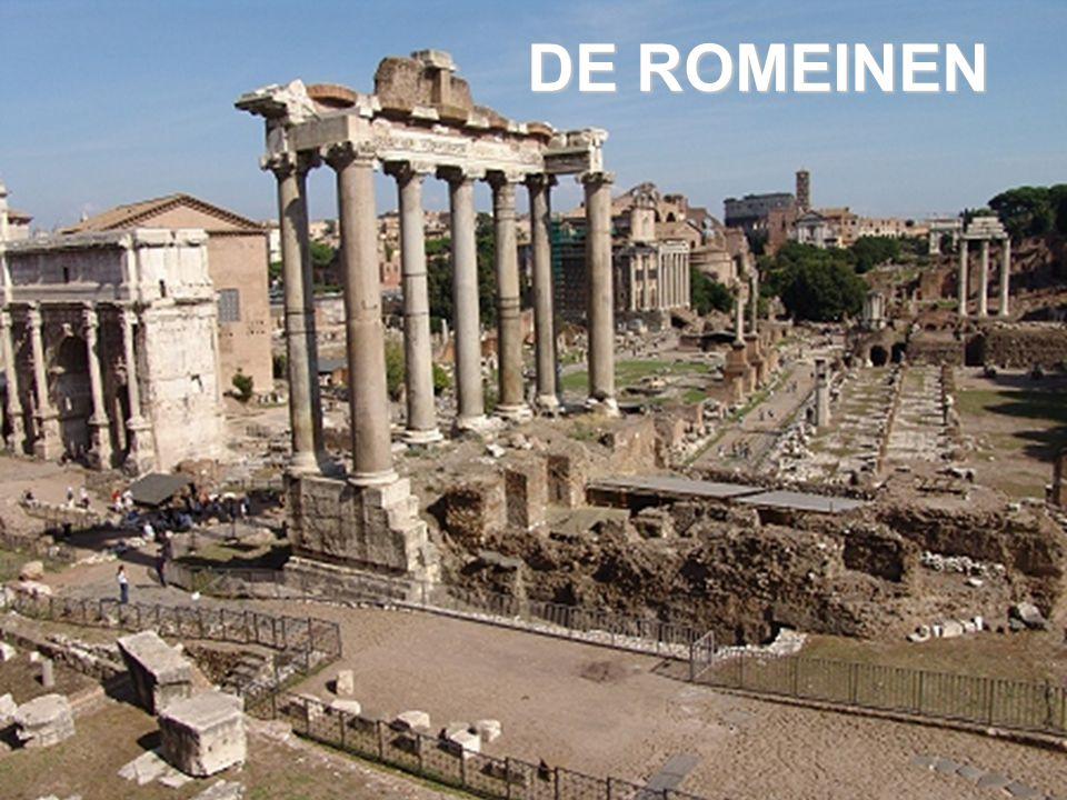 Ontstaan van Rome:§1 * Aeneas en de Trojaanse oorlog – sticht Alba Longa * Mars x Sylvia Rheia = Romulus + Remus * moeder is dochter van Numitor – koning van Alba Longa * Numitor afgezet door zijn broer Amulius * Amulius wil Romulus en Remus laten verdrinken * worden opgevoed door wolvin * doden Amulius en Numitor wordt weer koning * beloning: stichten stad langs de Tiber – 7 heuvelen ROME * broedermoord