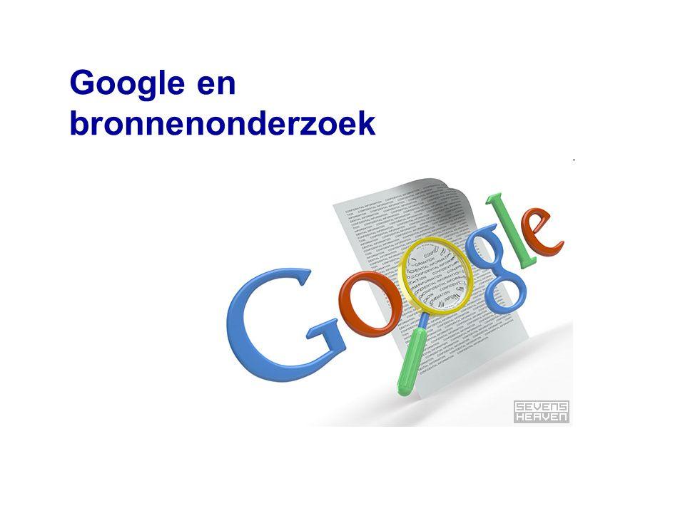 Google en bronnenonderzoek