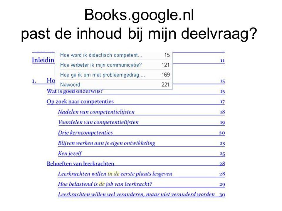 Books.google.nl past de inhoud bij mijn deelvraag?
