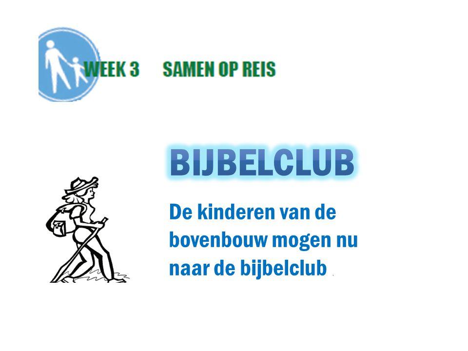 De kinderen van de bovenbouw mogen nu naar de bijbelclub.