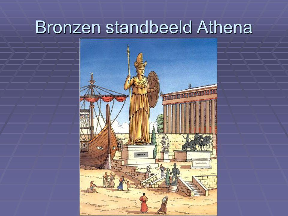 Bronzen standbeeld Athena