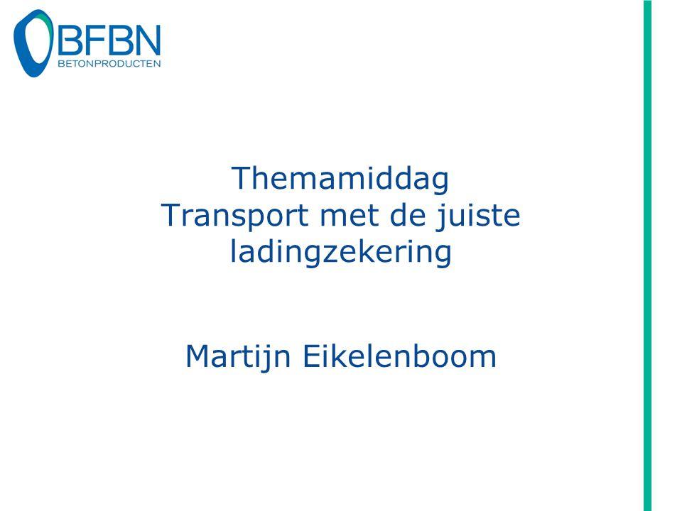 Themamiddag Transport met de juiste ladingzekering Martijn Eikelenboom