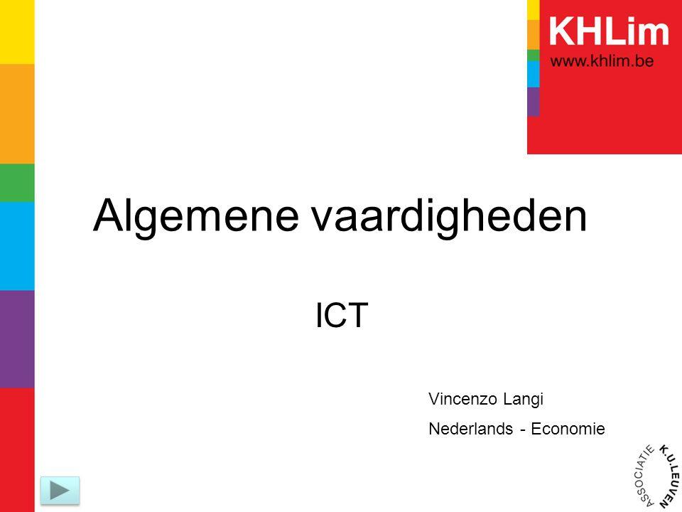 Algemene vaardigheden ICT Vincenzo Langi Nederlands - Economie