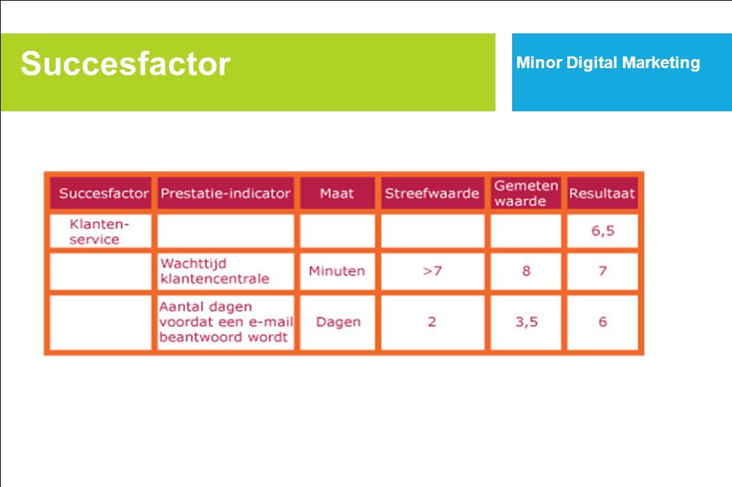Succesfactor Minor Digital Marketing