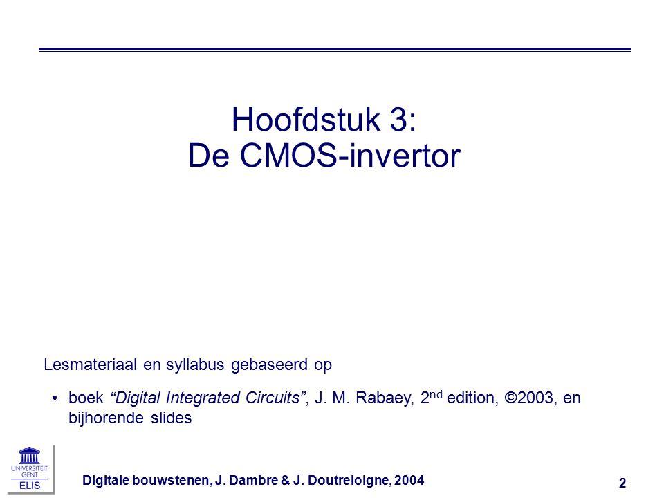 Digitale bouwstenen, J.Dambre & J. Doutreloigne, 2004 33 Snelle poorten maken?.