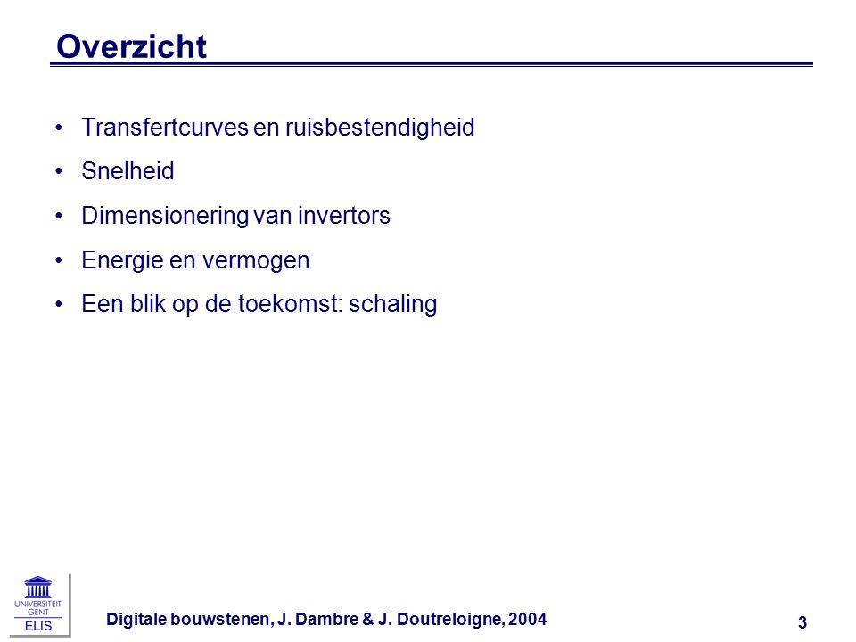 Digitale bouwstenen, J.Dambre & J. Doutreloigne, 2004 44 Terug naar de invertorketen...