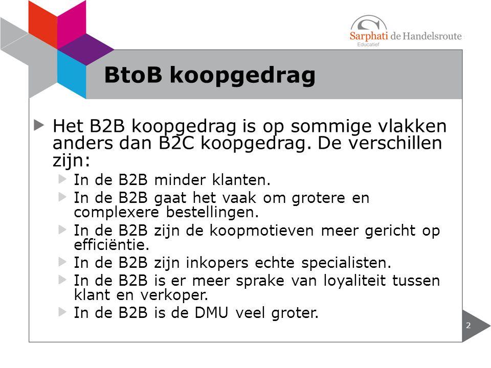 Het B2B koopgedrag is op sommige vlakken anders dan B2C koopgedrag.