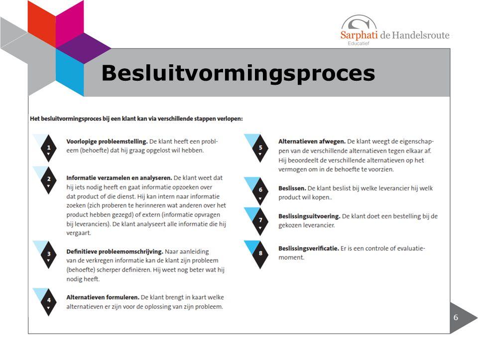 6 Besluitvormingsproces