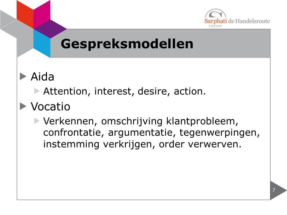 Aida Attention, interest, desire, action.