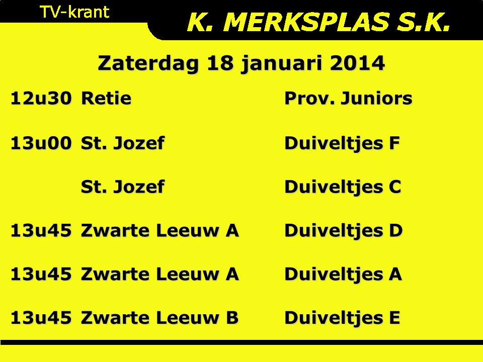 12u30Retie Prov. Juniors 13u00 St. Jozef Duiveltjes F St.
