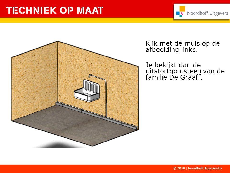 Klik met de muis op de afbeelding links. Je bekijkt dan de uitstortgootsteen van de familie De Graaff. © 2010 | Noordhoff Uitgevers bv