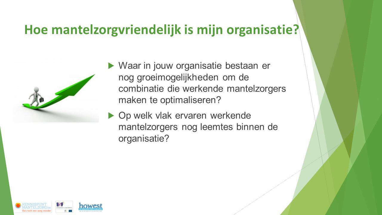  Waar in jouw organisatie bestaan er nog groeimogelijkheden om de combinatie die werkende mantelzorgers maken te optimaliseren.
