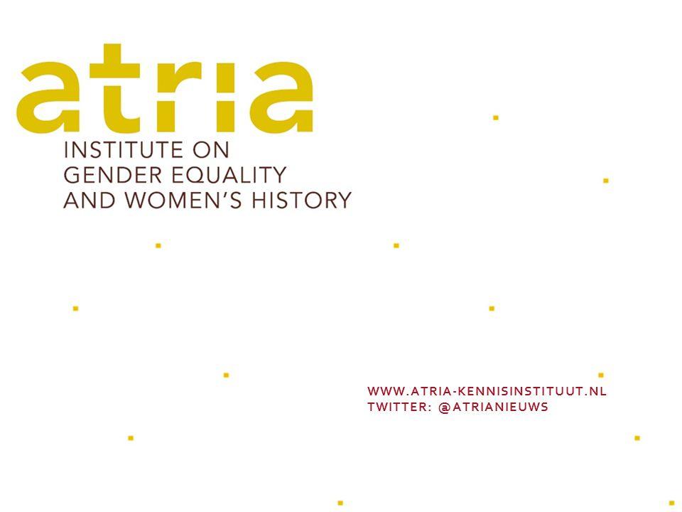 WWW.ATRIA-KENNISINSTITUUT.NL TWITTER: @ATRIANIEUWS