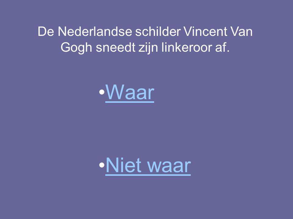 De Nederlandse schilder Vincent Van Gogh sneedt zijn linkeroor af. Waar Niet waar
