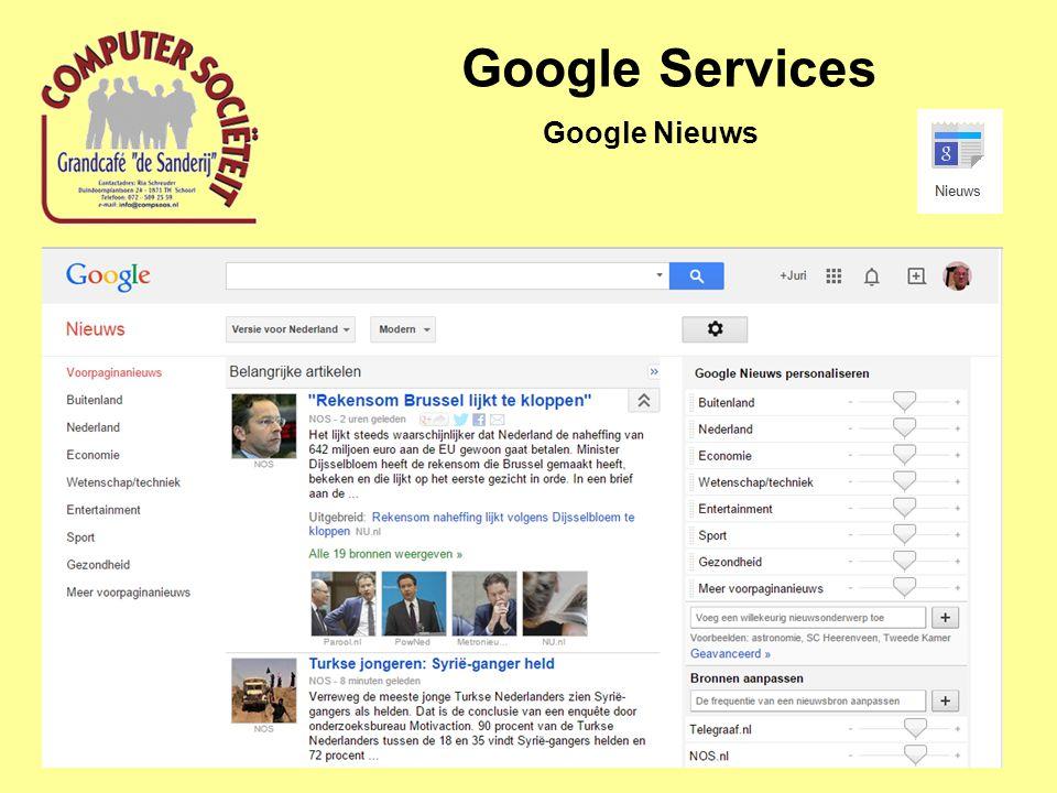 Google Services Google Nieuws