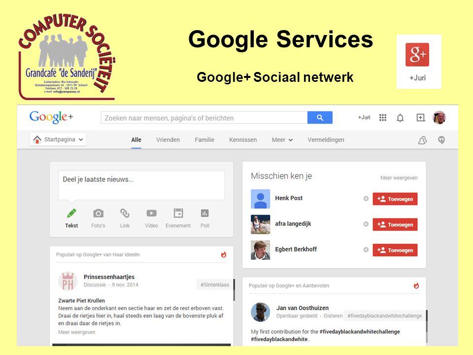 Google Services Google+ Sociaal netwerk
